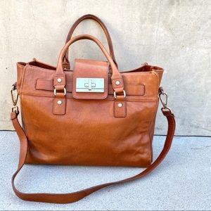 CALVIN KLEIN oversized satchel tote HANDBAG purse